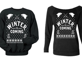 Winter Is Coming. Ugly Christmas Sweaters.