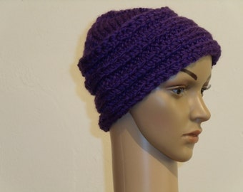 Knitted Cap purple