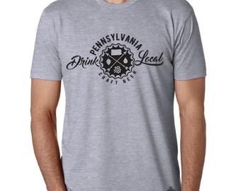 Craft Beer Shirt- Drink Local Pennsylvania t-shirt