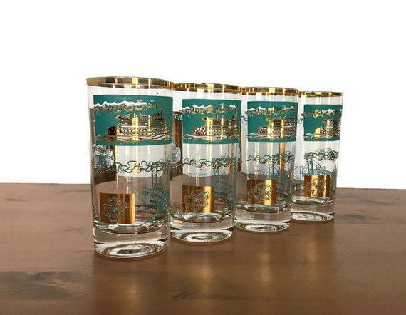 Libbey highball Southern Comfort promotional glasses set of 4