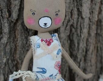 Nourcette, bear dress bear suede, mohair bears dress