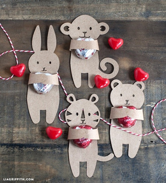 PDF: Valentine's Day Candy Huggers