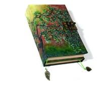 TriFold Book 500p Journal, Blank Book of Shadows, Handmade Landscape Grimoire