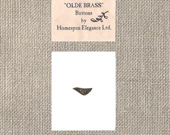 Homespun Elegance Ltd - Olde Brass Button - Bird - By the Button