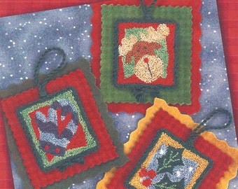 Lizzie Kate - Holiday HangUps II - Pattern for Punchneedle  - Natural Weavers Cloth