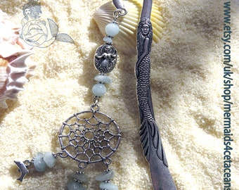 Dolphins dreamcatcher bookmark