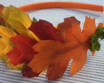 Autumn Oak Leaves Headband, Fall Colours Oak Leaves Headband, Autumn Fascinator