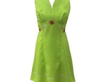 1960s lime green vintage dress