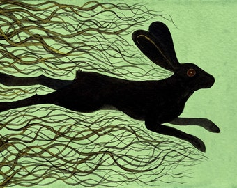 Watership Down Archival Art Print - The Black Rabbit of Inlé Illustration - Children's Book Art