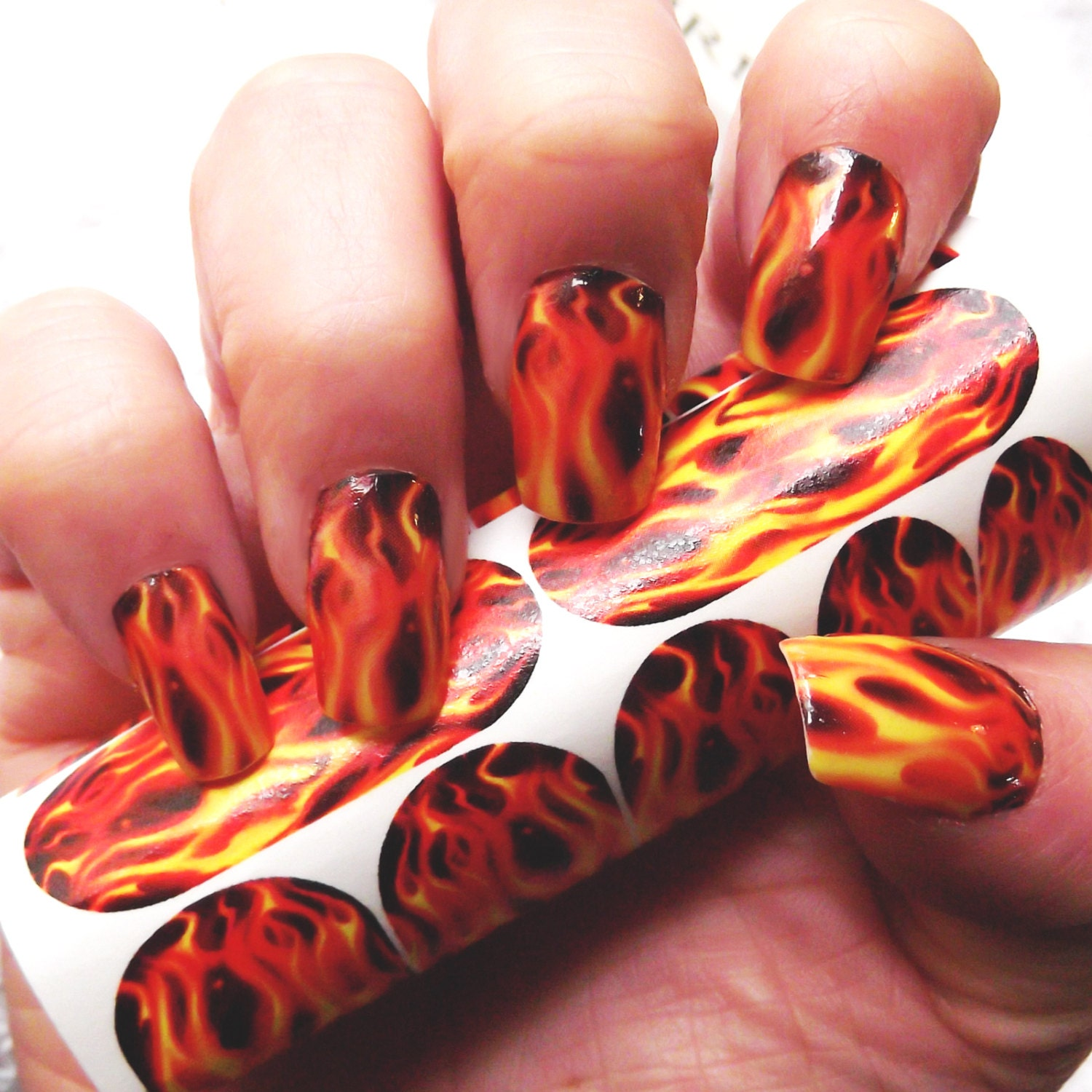 Real flame nail art fmr for long nails hunger games zoom prinsesfo Gallery
