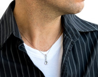 Men's Necklace - Men's Silver Necklace - Men's Jewelry - Men's Gift - Boyfriend Gift - Husband Gift - Guys Jewelry - Guys Necklace