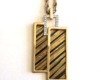 Vintage Trifari Geometric Striped Necklace