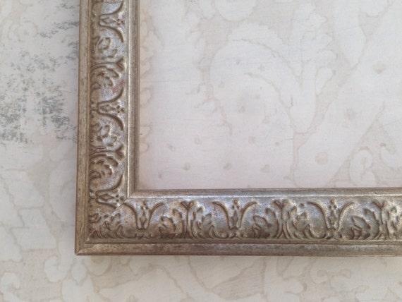 vintage silver picture frame 4x6 5x5 5x7 8x8 8x10. Black Bedroom Furniture Sets. Home Design Ideas