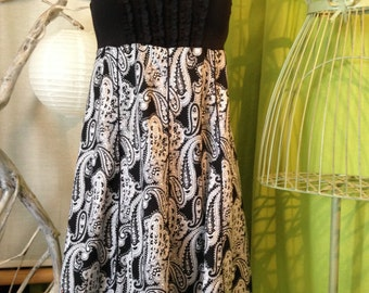 Dress Halter T42-44-46 black and white