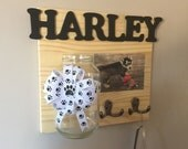 dog leash/treat holder + personalized name and photo // MADE TO ORDER