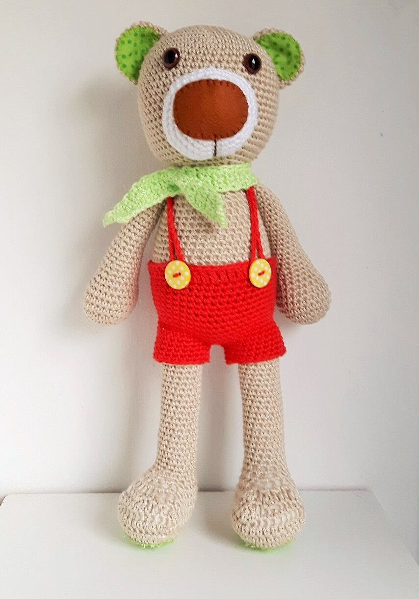 Amigurumi Little Teddy Bear : Theodor the Teddy Bear Amigurumi Teddy Bear Crochet toy