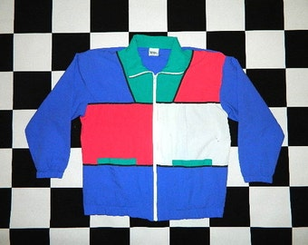 Vintage Color Block Jacket...