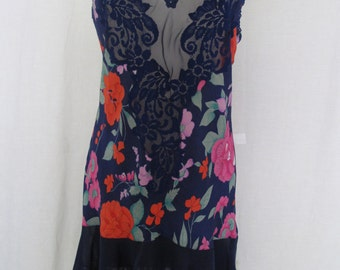Victoria's Secret Nightgown Short Nightgown Floral Chiffon Nightgown