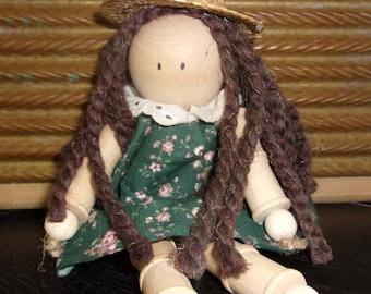 Spool Doll - Green Dress