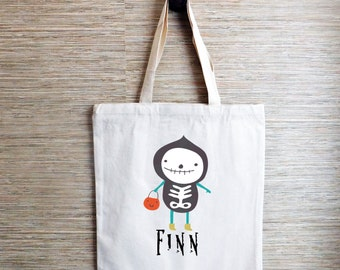 Trick or Treat! Ghost Halloween Personalized Tote