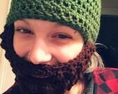 Crochet Bearded Beanies