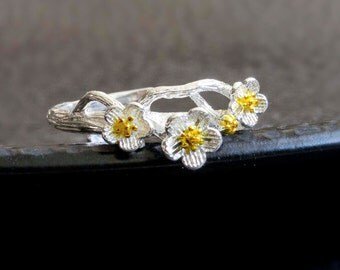 Flower ring - 925 Sterling Silver Edition