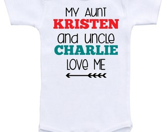 Personalized baby gifts custom shirts custom clothing my aunt personalize baby gift custom shirts custom clothing my aunt and uncle love me personalized names baby negle