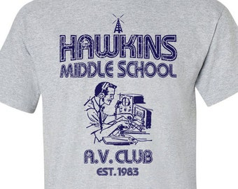 Stranger Things shirt - Hawkins Middle School AV Club - Sizes S-2XL, 80's shirt, vintage, Ham Radio, Tee , TV Show