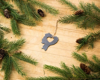 Heart Ecuador Christmas Ornament Steel Ornament