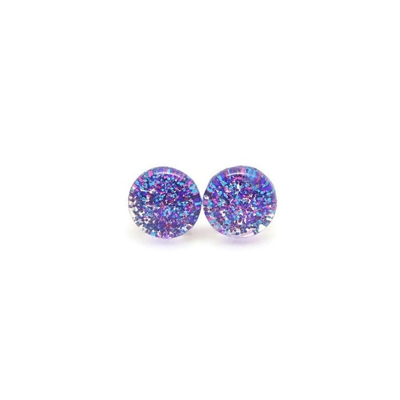 sparkle earrings plastic post earrings 8 by