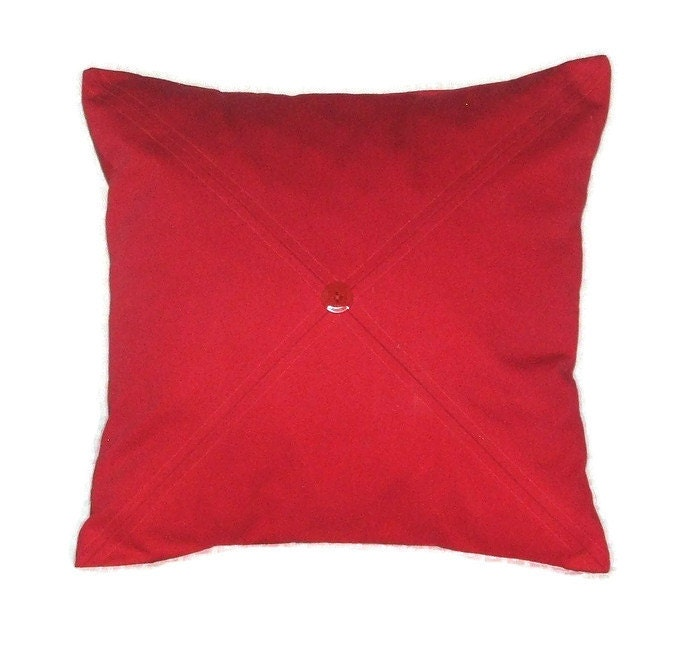 Red Throw Pillows Etsy : Bright Red Decorative Pillow Cover Throw Pillow Cover