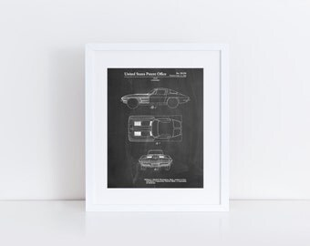 1962 Corvette Stingray Patent Poster, Car Enthusiast, Garage Decor, Corvette Art, PP0090