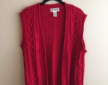 Long Red Sweater Vest
