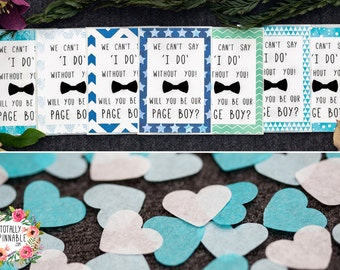 Will You Be Our Page Boy? Confetti filled envelope! Perfect for your wedding.