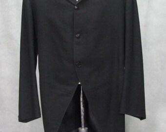 1800s Jacket - Cutaway Coat Victorian Edwardian Frock Jacket True Vintage Black Size 42R