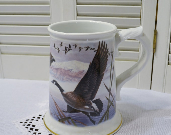 Franklin Porcelain The Canada Goose Mug Stein Ken Michaelsen Collectible with COA Japan PanchosPorch