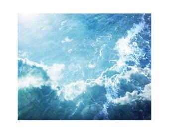 Light Blue Art, White Art, Abstract Ocean Art, Fine Art Photography, Large Abstract Art, Water Wall Art, Sky Photography, Cloud Art Oceania
