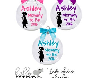 Christmas Ornament for Mommy to Be/Mommy to Be Ornament/ Personalized Baby Shower Gift/Ornament for New Mom/ New Baby