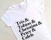 Divergent Women's Graphic Tee | V-Neck Tee | Tris & Tobias | Four | Insurgent | Allegiant | Gift | Movie | Dauntless