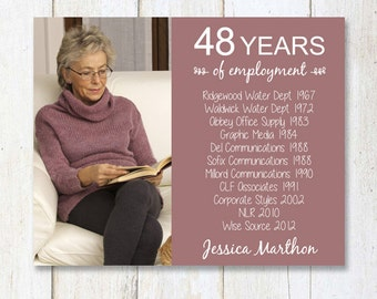 Retirement gift for women wife mother sister or best friend - Personal Retirement wall art- DIGITAL FILE!