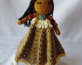 Princess Pocahontas Inspired Lovey/Security Blanket