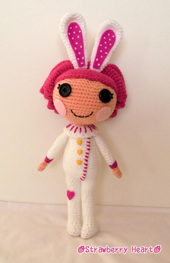 Sock Monkey Amigurumi Pattern : Crochet PATTERN Lalaloopsy Cotton amigurumi doll