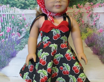 50s Cherries fits American Girl Doll and 18 inch dolls