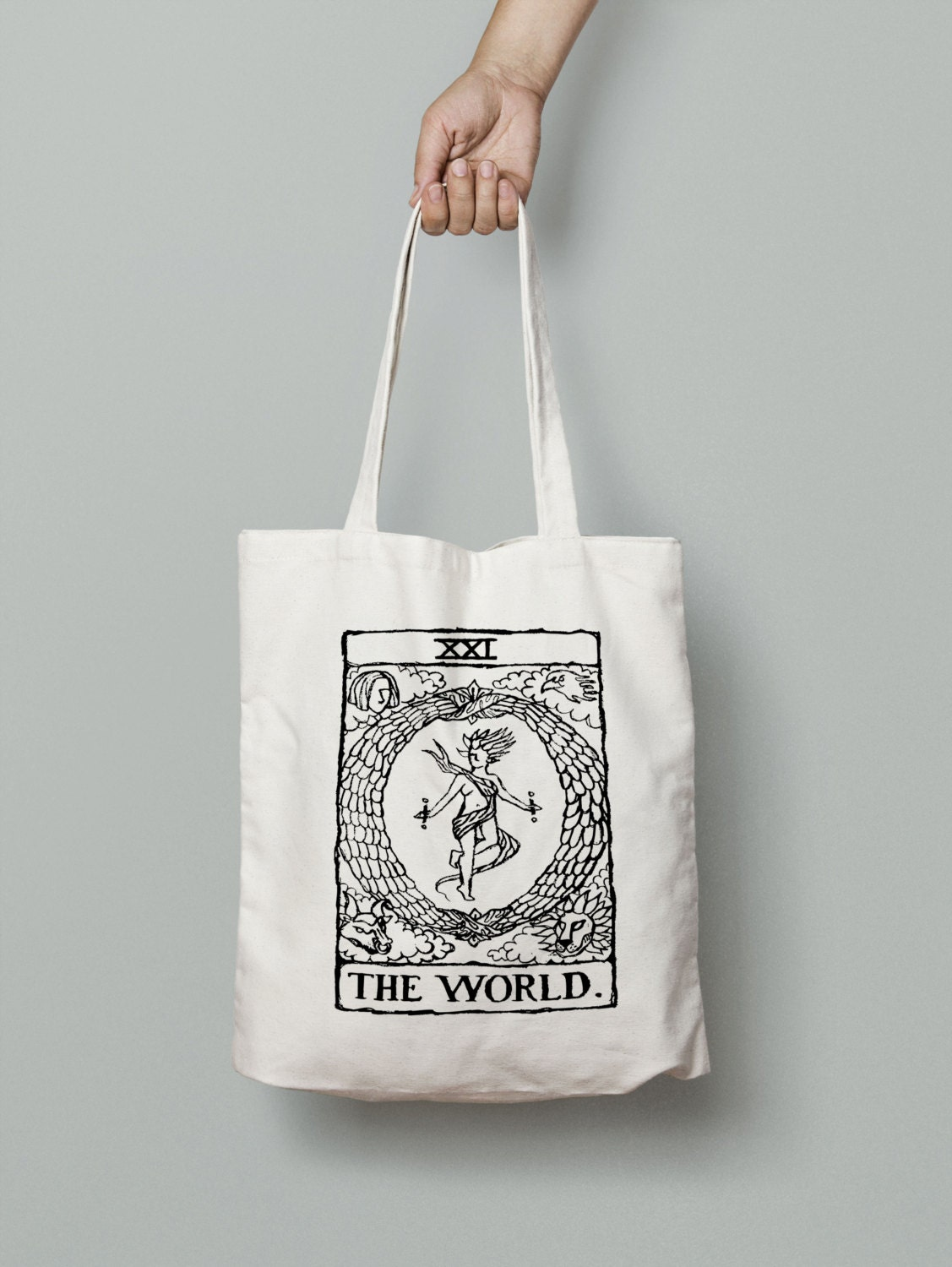 Tarot Bags Tarot Cards Cloths More: Tarot Tote Bag The World Tarot Card Tarot Card Tote Bag
