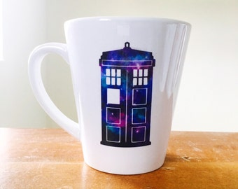 Galaxy tardis coffee mug latte mug doctor who inspired mug