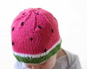 Apple Hat Knitting Pattern : Apple Baby Hat KNITTING PATTERN knit hat by LittleRedWindow