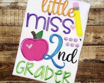 Back to School Shirts, Little Miss K-6th Grader