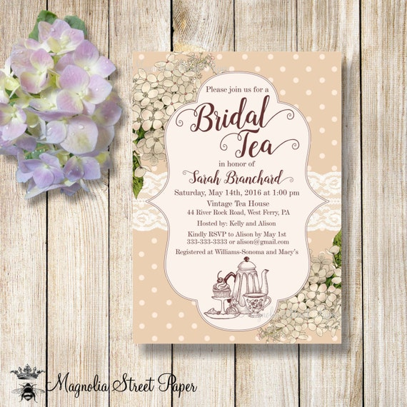 tea party invitations high tea bridal shower invitation kitchen tea