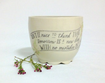 Anne of Green Gables Quote Mug | Wheel thrown | Ceramic | Pottery | Purple | Isn't it nice... | READY TO SHIP