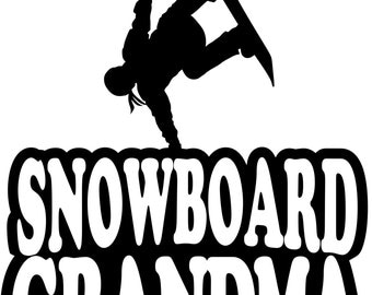 Snowboard Grandma Hoodie/ Snowboard Grandma Sweatshirt/ Snowboard Grandma Gift/ Girl Snowboarder Snowboard  Grandma Hoodie Sweatshirt